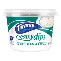 Tararua Dairy Co Sour Cream & Chives Creamy Dip 250g