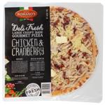 Romano's Deli Fresh Chicken & Cranberry Large Crispy Base Gourmet Pizza 500g