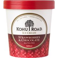 Kohu Road Gluten Free Strawberries & Chocolate Ice Cream 500ml