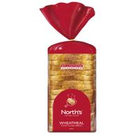 Norths Wheatmeal Toast Sliced Bread 600g