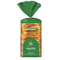 Norths White Sandwich Sliced Bread 600g