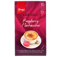 Greggs Cafe Gold Raspberry Mochaccino 10 Pack 200g