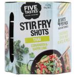 Five Tastes Thai Coriander & Kaffir Lime Stir Fry Shots 180g