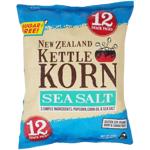 New Zealand Kettle Korn Sea Salt Popcorn Multipacks 12pk