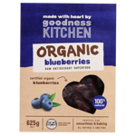 Goodness Kitchen Organic Blueberries 625g