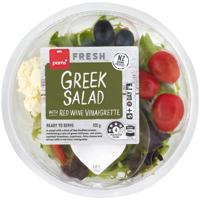 Pams Fresh Greek Salad With Red Wine Viniagrette 120g