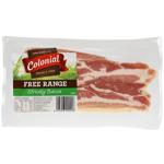 Colonial Free Range Streaky Bacon 250g