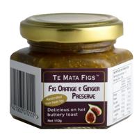 Te Mata Figs Fig Orange & Ginger Preserve 110g