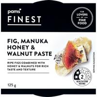 Pams Finest Fig Manuka Honey & Walnut Paste 125g