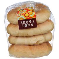 Bagel Love Plain Bagels 4ea