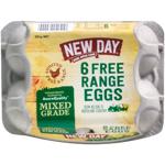 New Day Free Range Eggs Mixed Grade 6ea