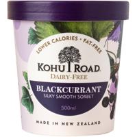 Kohu Road Dairy Free Blackcurrant Sorbet 500ml