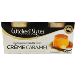 Wicked Sister Madagascan Vanilla Bean Creme Caramel Dessert 2pk