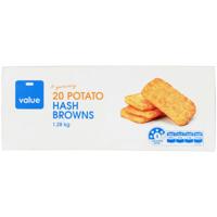 Value Potato Hash Browns 1.28kg