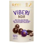 Viberi Noir New Zealand Organic Soft Blackcurrant Berries Rolled In Dark Chocolate 90g
