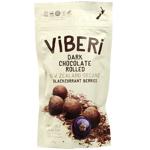 Viberi Dark Chocolate Rolled Organic Blackcurrant Berries 90g