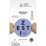 Zesti Raisin & Oat Organic Cookies 180g