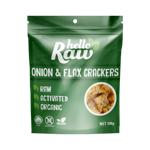 Hello Raw Onion & Flax Crackers 100g