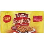 Wattie's Spaghetti In Tomato Sauce 3pk