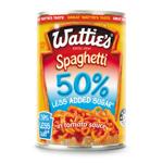 Wattie's Spaghetti 50% Less Added Sugar 420g