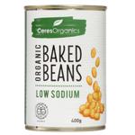 Ceres Organics Organic Low Sodium Baked Beans 400g