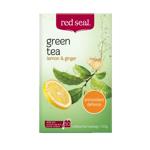 Red Seal Green Tea Lemon & Ginger 100g (50pk)