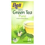 Bell Pure Green Zesty Tea Bags 24ea