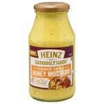 Heinz Seriously Good Honey Mustard Simmer Sauce With Real Cream & NZ Honey 500g