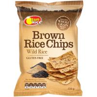 SunRice Gluten Free Wild Rice Brown Rice Chips 156g