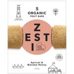 Zesti Apricot & Manuka Honey Organic Fruit Bars 5ea