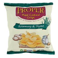 Proper Hand Cooked Rosemary & Thyme Potato Crisps 40g