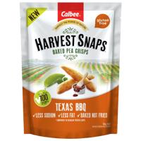 Calbee Harvest Snaps Texas BBQ Baked Pea Crisps 93g