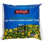 Talley's Baby Peas & Sweet Corn 1kg