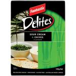 Fantastic Delites Sour Cream & Chives Rice Snacks 100g
