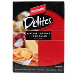 Fantastic Delites Vintage Cheddar & Red Onion Rice Snacks 100g