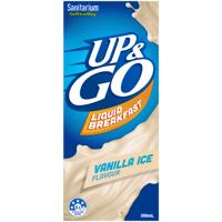 Sanitarium Up & Go Vanilla Ice Liquid Breakfast 350ml