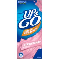 Sanitarium Up & Go Strawberry Liquid Breakfast 350ml
