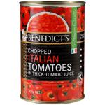 Benedict's Chopped Italian Tomatoes In Tomato Juice 400g