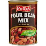 Delish Four Bean Mix 400g