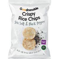 Goodness Me Sea Salt & Black Pepper Crispy Rice Chips 60g