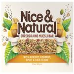 Nice & Natural Supergrains Apricot Coconut Bar 6pk