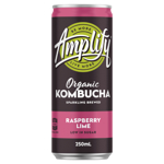 Amplify Raspberry Lime Organic Kombucha 250ml