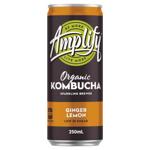 Amplify Ginger Lemon Organic Kombucha 250ml