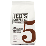 Jed's Coffee Co. Strength 5 Extra Strong 100% Arabica Plunger Grind Coffee 200g