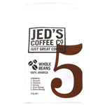 Jed's Coffee Co. Strength 5 Extra Strong 100% Arabica Whole Coffee Beans 200g
