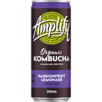 Amplify Passionfruit Lemonade Organic Kombucha 250ml
