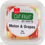 Pams Cut Fruit Melon & Grapes 400g