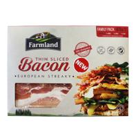 Farmland European Streaky Thin Sliced Bacon Family Pack 875g