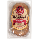 Abe's Six Seed Gluten Free Bagels 3ea
