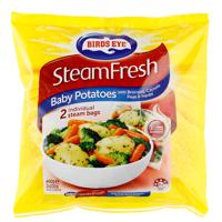 Birds Eye Steam Fresh Mixed Vegetables Baby Potato, Broccoli, Carrot, Peas & Herbs 400g
